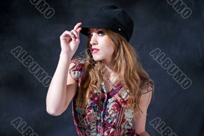 Mysterious girl with hat