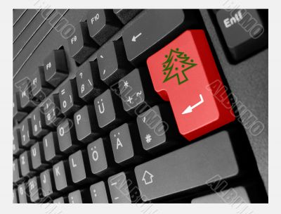 special business keyboard xmas tree