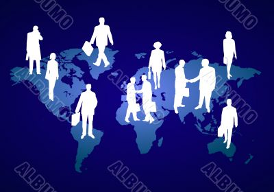business people around the globe