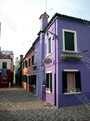 colorful houses of Burano Island in venice
