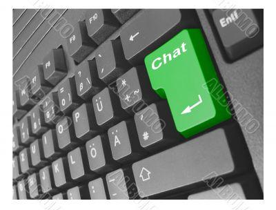 business keyboard chat