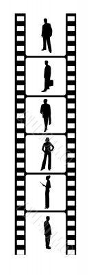 business people on film reel