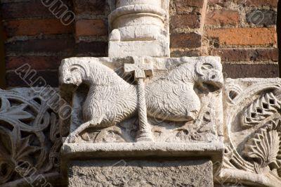 Milan - Sant`Ambrogio church, capital