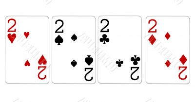 poker playing cards four of a kind