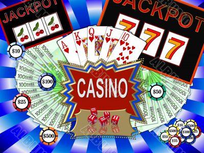 colorful casino symbols