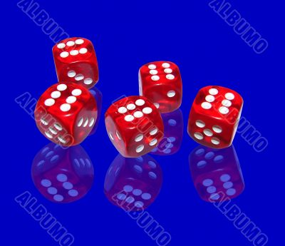 gambling with red dice