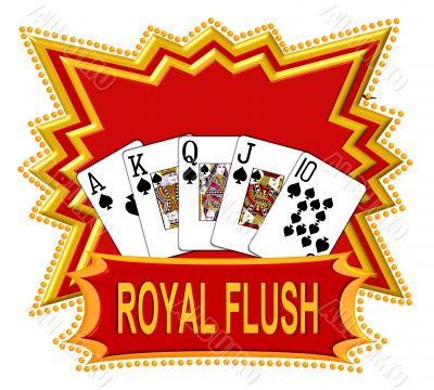 Poker Cards Royal Flush Logo