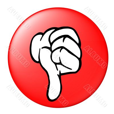 thumb down button red