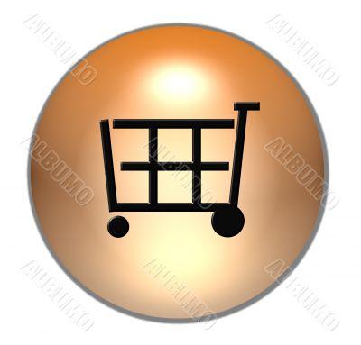 shopping cart button gold