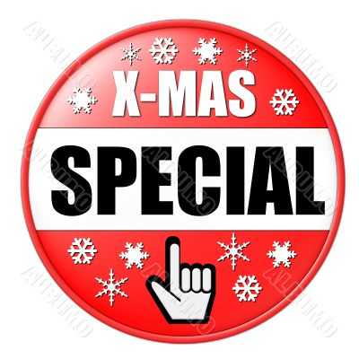isolated christmas special button
