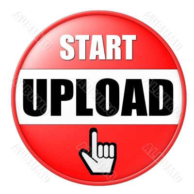isolated start upload button