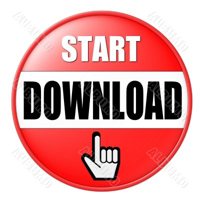 isolated start download button