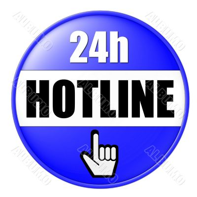 isolated 24h hotline button