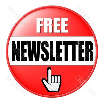 isolated free newsletter button