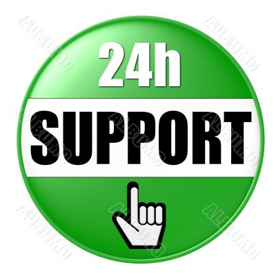isolated 24h support button