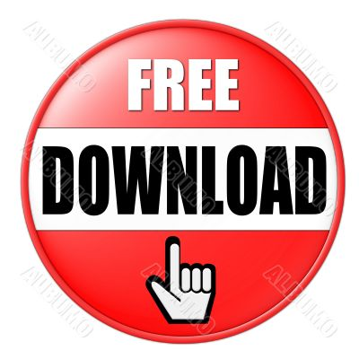 isolated free download button