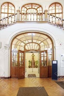 Main Entrance of a Library