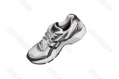 Running shoe isolated on white