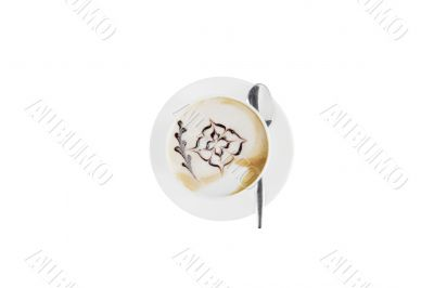 Cup of Cappuccino isolated on white