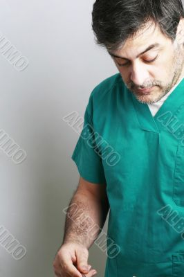 Middle-age surgeon