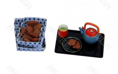 Tea and biscuts for snack
