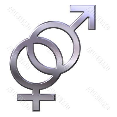3D Silver Gender Union