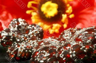 Pomegranates in silver