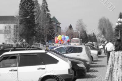 the bundle of ballons
