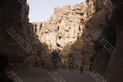 Petra ruins and mountains in Jordan
