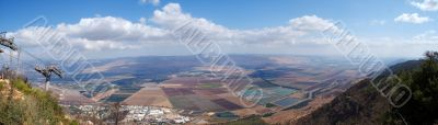 Golan heights rural landscape panorama