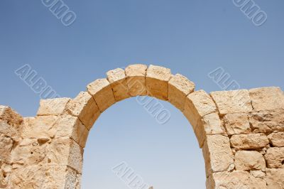 Ruins of ancient stone arch