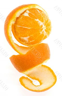 Orange with spiral peel