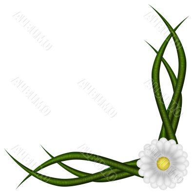Angular, floral vignette