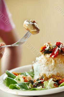 Appetizing mushroom
