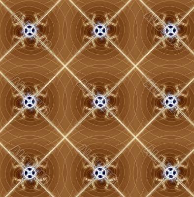 Abstract seamless brown fractal background