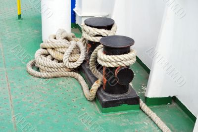 Rope on a ship