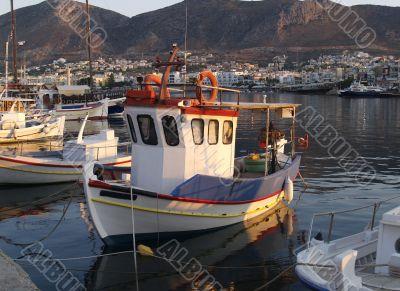Fishing Boat in greek harbour