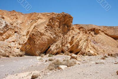 Sandstone rock in the desert