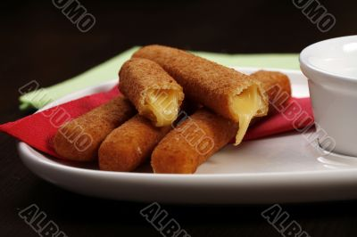 roasted cheese sticks