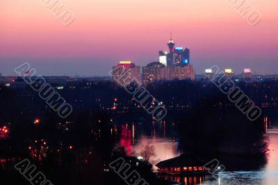 Belgrade evening view