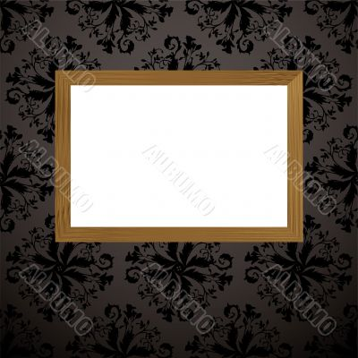 wood picture frame black