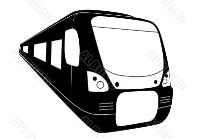 Modern railway train