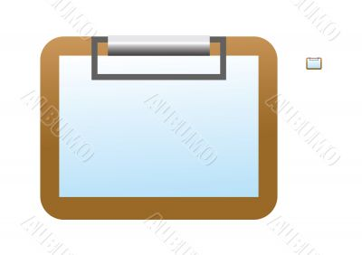 Blank clipboard icon
