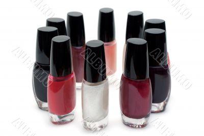 Vials colour varnish nailwaer, round