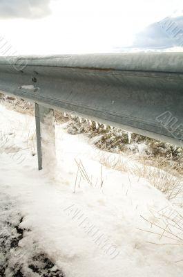 frozen guard rails