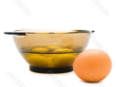 single egg and bowl
