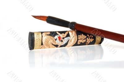 chinese hieroglyphics ink