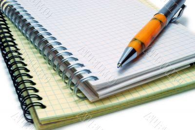 Pen on Spiral Notebooks