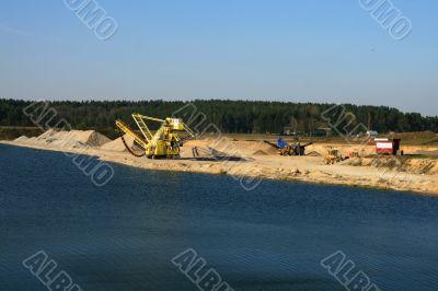 Open rocks and gravel quarry