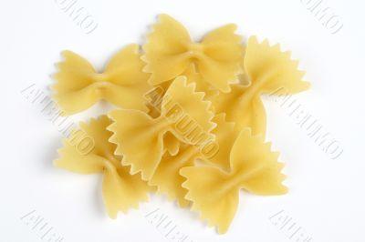 italian pasta - farfalle background horizontal